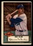 1952 Topps #37 BLK Duke Snider  Front Thumbnail