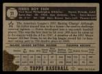 1952 Topps #21 BLK Ferris Fain  Back Thumbnail