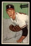 1952 Bowman #156  Warren Spahn  Front Thumbnail