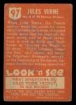 1952 Topps Look 'N See #97  Jules Verne  Back Thumbnail