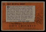 1956 Topps Davy Crockett #23 ORG  Halt or We'll Shoot  Back Thumbnail