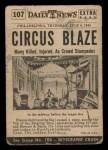 1954 Topps Scoop #107   Circus Blaze Back Thumbnail