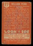 1952 Topps Look 'N See #123  Sir Henry Morgan  Back Thumbnail