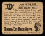 1950 Topps Bring Em Back Alive #86   Back To The Wild Back Thumbnail