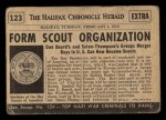 1954 Topps Scoop #123   Boy Scouts Organized Back Thumbnail
