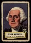 1952 Topps Look 'N See #9  George Washington  Front Thumbnail