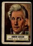 1952 Topps Look 'N See #8  Andrew Jackson  Front Thumbnail