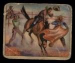 1949 Bowman Wild West #27 A  Saddling Pony Express Front Thumbnail