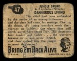 1950 Topps Bring Em Back Alive #47   Jungle Drums Back Thumbnail