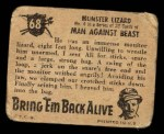 1950 Topps Bring Em Back Alive #68   Snaring Monster Lizard Back Thumbnail
