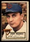 1952 Topps #105  John Pramesa  Front Thumbnail