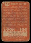 1952 Topps Look 'N See #73  Robert Fulton  Back Thumbnail