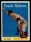 1958 Topps #260  Frank Malzone  Front Thumbnail