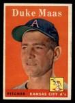 1958 Topps #228  Duke Maas  Front Thumbnail