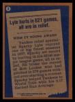 1978 Topps #2   -  Sparky Lyle Record Breaker Back Thumbnail