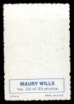 1969 Topps Deckle Edge #24  Maury Wills  Back Thumbnail