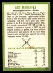 1963 Fleer #54  Art Mahaffey  Back Thumbnail