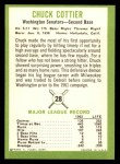 1963 Fleer #28  Chuck Cottier  Back Thumbnail