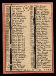 1969 Topps #107 JOH  -  Bob Gibson Checklist 2 Back Thumbnail