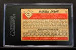 1953 Bowman #99  Warren Spahn  Back Thumbnail