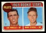 1969 Topps #394   -  Lou Piniella / Marv Staehle Pilots Rookies Front Thumbnail