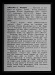 1950 Callahan Hall of Fame #2  Cap Anson  Back Thumbnail