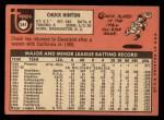 1969 Topps #644  Chuck Hinton  Back Thumbnail
