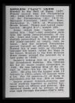 1950 Callahan Hall of Fame #47  Nap Lajoie  Back Thumbnail