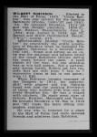 1950 Callahan Hall of Fame #62  Wilbert Robinson  Back Thumbnail