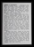1950 Callahan Hall of Fame #10  Jesse Burkett  Back Thumbnail