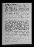 1950 Callahan Hall of Fame #35  Clark Griffith  Back Thumbnail