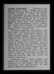 1950 Callahan Hall of Fame #57  Jim O'Rourke  Back Thumbnail