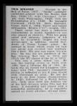 1950 Callahan Hall of Fame #68  Tris Speaker  Back Thumbnail