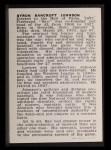 1950 Callahan Hall of Fame #42  Ban Johnson  Back Thumbnail