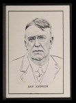 1950 Callahan Hall of Fame #42  Ban Johnson  Front Thumbnail