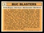 1963 Topps #18   -  Roberto Clemente / Bob Skinner / Smoky Burgess / Dick Stuart Buc Blasters   Back Thumbnail