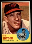 1963 Topps #543  Russ Snyder  Front Thumbnail