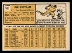1963 Topps #567 ^COR^ Jim Duffalo  Back Thumbnail