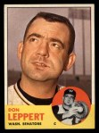 1963 Topps #243  Don Leppert  Front Thumbnail