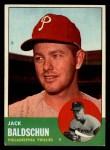 1963 Topps #341 ^COR^ Jack Baldschun  Front Thumbnail