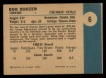 1961 Fleer #6  Bob Boozer  Back Thumbnail