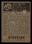 1951 Topps Ringside #68  Steve Belloise  Back Thumbnail