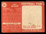 1958 Topps #38  Bill Wade  Back Thumbnail