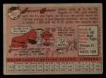 1958 Topps #262  Johnny Groth  Back Thumbnail