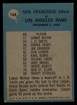 1964 Philadelphia #168   -  Red Hickey 49ers Play of the Year Back Thumbnail