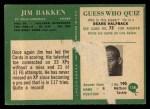 1966 Philadelphia #158  Jim Bakken  Back Thumbnail
