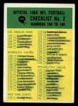 1966 Philadelphia #198   Checklist 2 Front Thumbnail