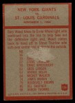 1965 Philadelphia #126   -  Allie Sherman New York Giants Back Thumbnail