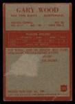 1965 Philadelphia #125  Gary Wood   Back Thumbnail