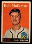 1958 Topps #356  Bobby Malkmus  Front Thumbnail
